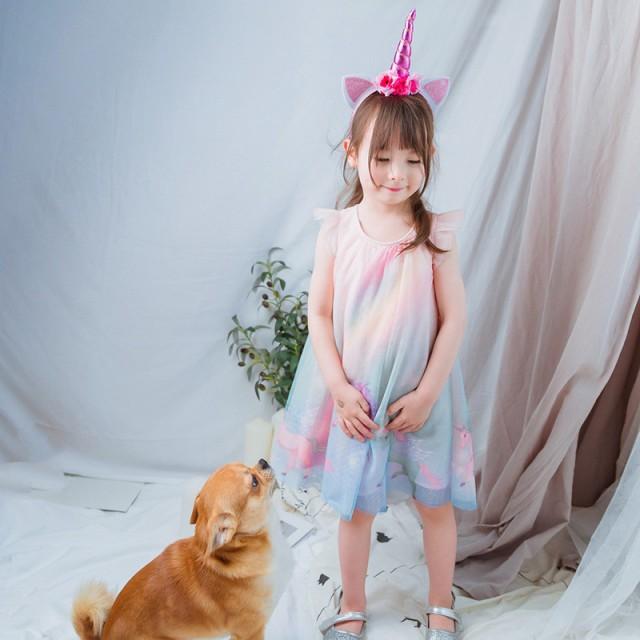 314a9d025d6cb AD107ディズニープリンセス 子供用ドレス キッズ ソフィア ユニコーン なりきりワンピース ユニコーン 子どもドレス