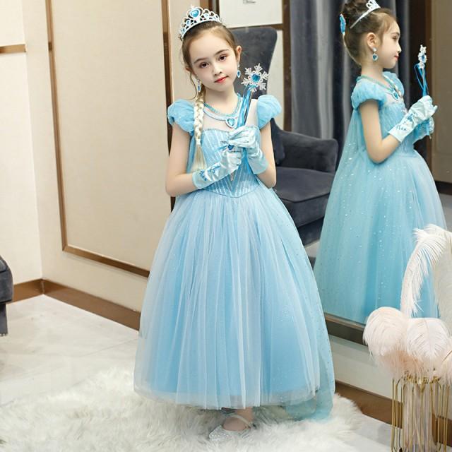 子供 コスチューム プリンセスドレス 衣装 コスプレ ドレス プリンセス ハロウィン エルサ ワンピース ベルドレス こども|au  Wowma!(ワウマ)