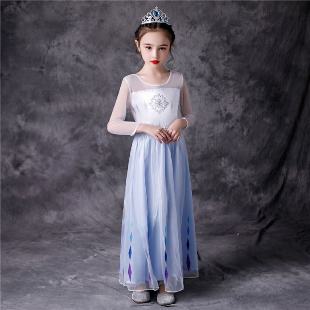 AD342ディズニープリンセス 子供用ドレス エルサ...