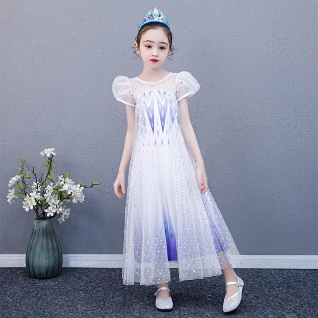 AD345ディズニープリンセス 子供用ドレス エルサ...