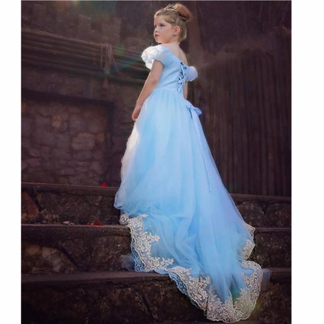 ディズニープリンセス 子供用ドレス キッズ シンデレラ ワンピース なりきりワンピース プリンセスドレス 子どもドレス プリンセス