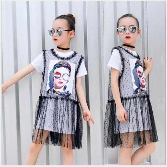 韓国子供服 女の子 夏着 2点セット 半袖 Tシャツ...