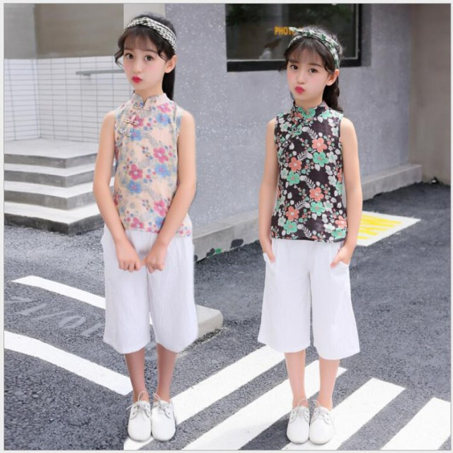 夏 韓国子供服 新品 女の子 2点セット Tシャツ + ...