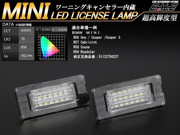 BMW MINI ミニ LED ライセンスランプ ナンバー灯 ...