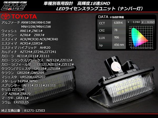 トヨタ LED ライセンスランプ ナンバー灯 10系 ア...
