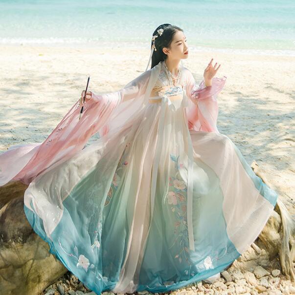 豪華漢服 刺繍 中国風 コスプレ衣装 仙女古典美人...