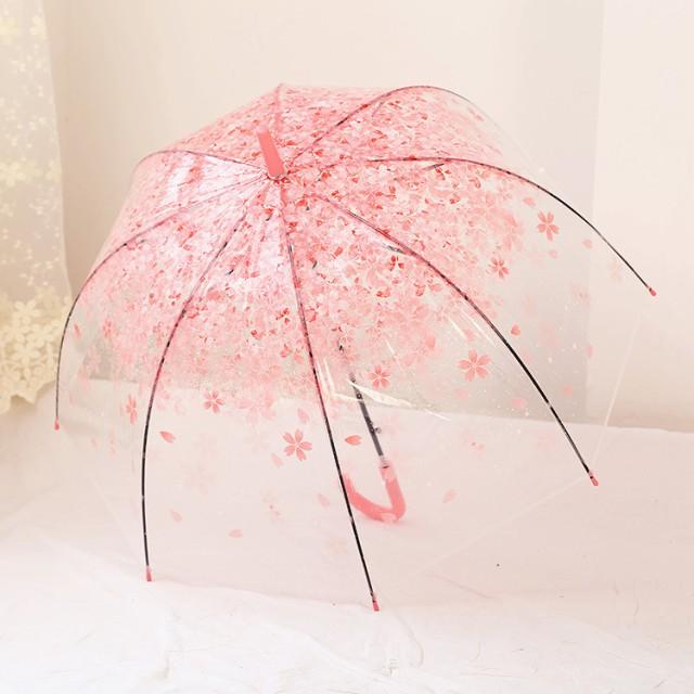 透明ビニール傘 雨傘 手開き 日傘 傘 レディース かさ 晴雨兼用傘 コスプレ 軽量 きれいな桜 和傘 長傘 花柄 雨具 姫系
