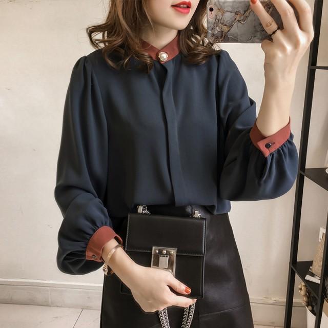 上品なシフォンシャツ 綺麗め 大きいサイズ 韓国...