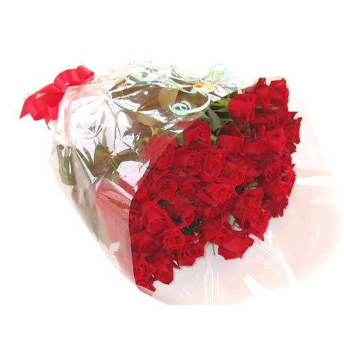 バラの花束 50本 【送料無料】 摘みたてのバラを...