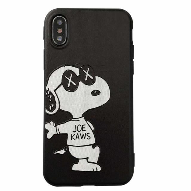 iphonex ケース クリア シリコン スヌーピー KAWS...