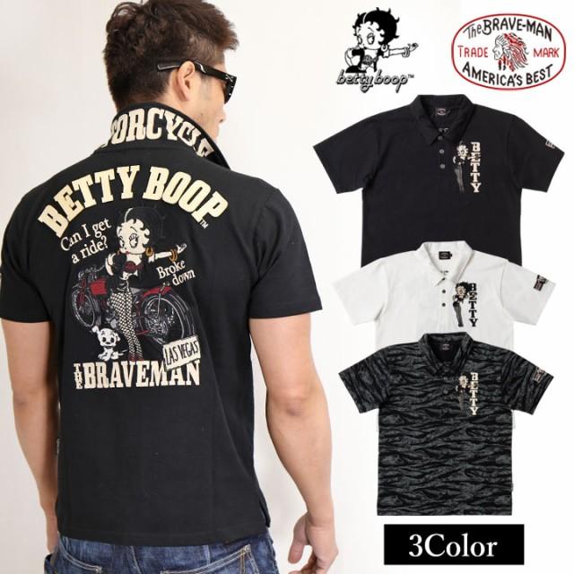 半袖ポロシャツ THE BRAVEMAN×BETTY BOOP ベティ...