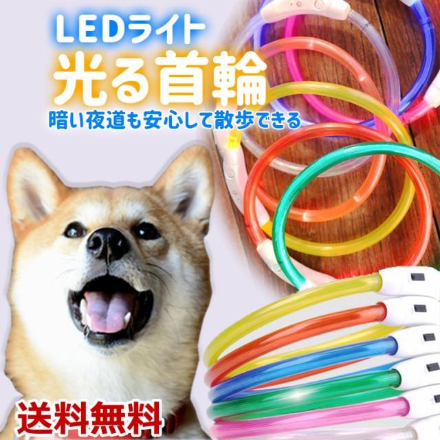 光る首輪 首輪 ペット用 LEDライト USB充電 小型...