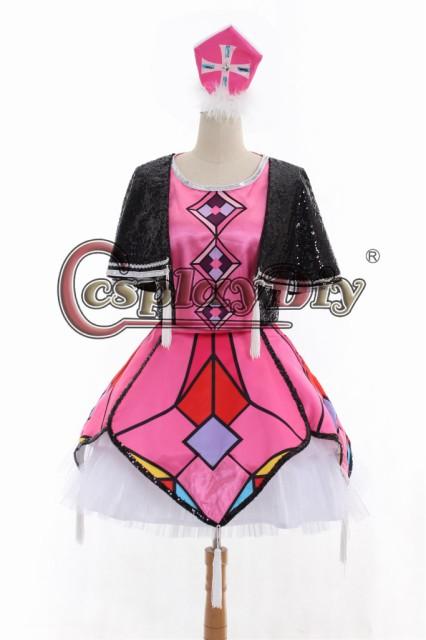 高品質 高級コスプレ衣装 ももクロ 風 ピンク オ...