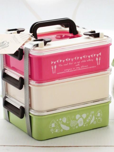 ピクニックランチボックス 3ステップス 弁当箱...