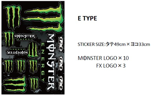 MONSTER ENERGY(モンスターエナジー)STICKER SHEE...