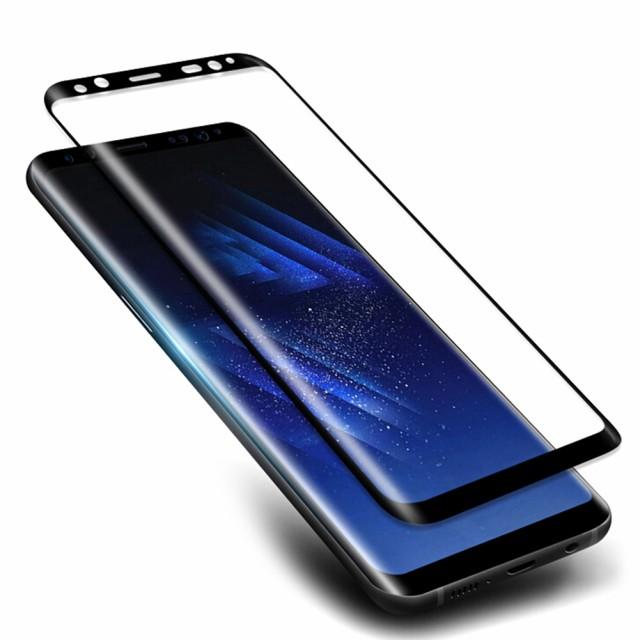 Galaxy S8 ガラスフィルム 3D 曲面 硬度9H 高透過...