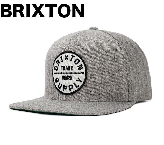 Brixton Oath III Snapback Hat Cap Light Heathe...