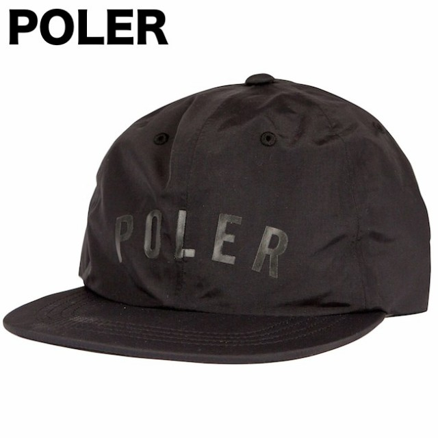 Poler State Taped Floppy Snapback Hat Cap Blac...