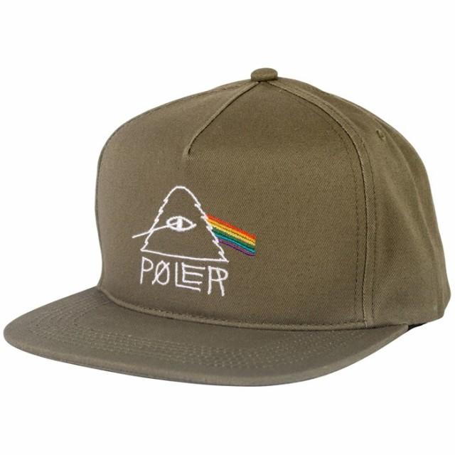 Poler Psychedelic Snapback Hat Cap Olive キャ...