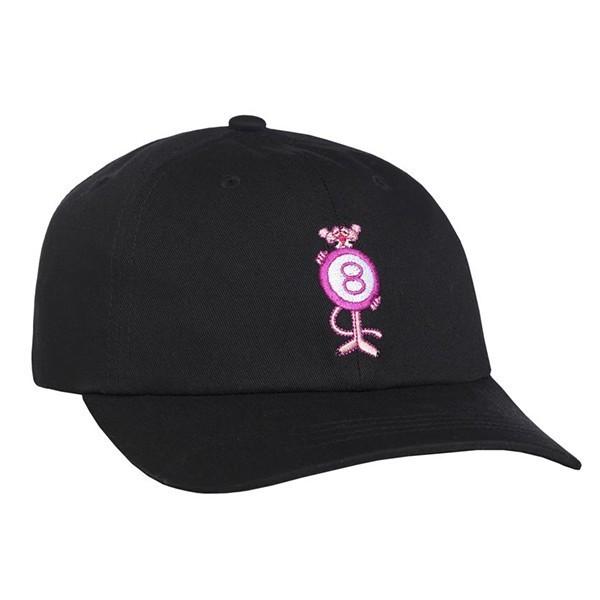 HUF X Pink Panther Pink 8Ball Dad Hat Cap Blac...