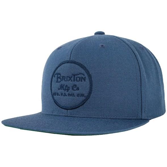 Brixton Wheeler Snapback Hat Cap Ocean キャッ...