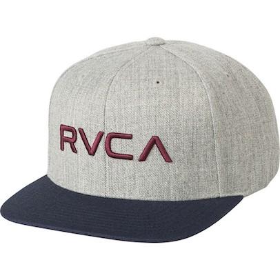 RVCA Twill Snapback Hat Cap Grey/Blue キャップ...