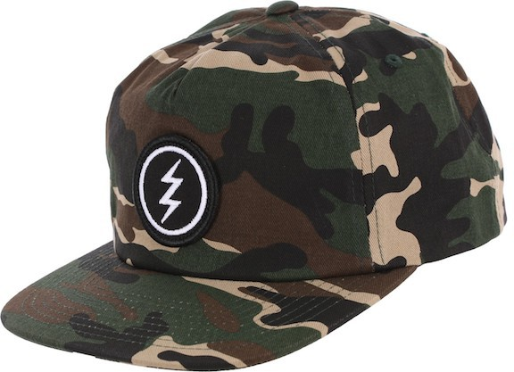 Electric Volt Patch Snapback Hat Cap Camo キャ...