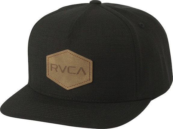 RVCA Commonwealth Deluxe Snapback Hat Cap Blac...