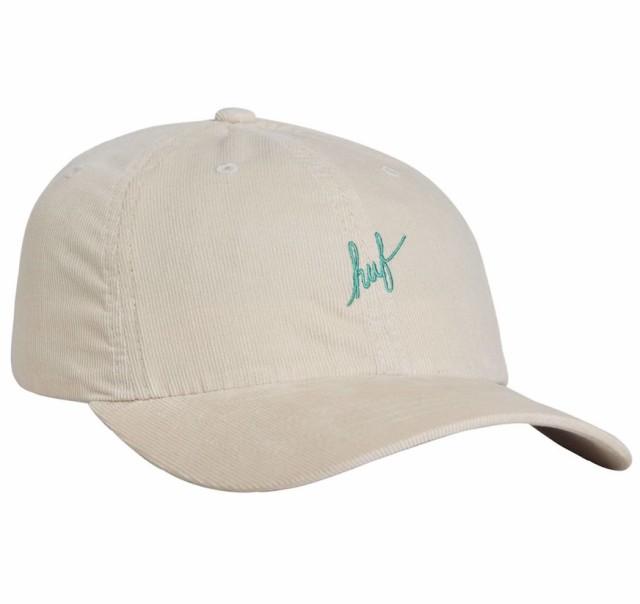HUF Corduroy Script Curved Visor Hat Cap Sand ...