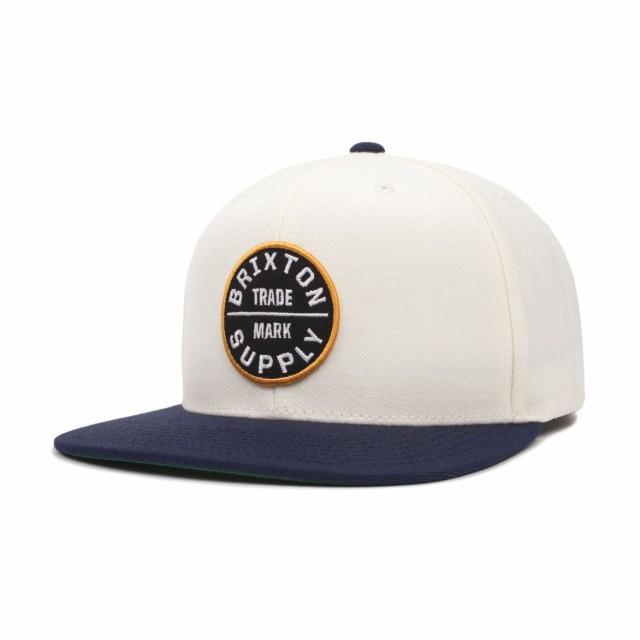 Brixton Oath III Snapback Hat Cap Off White/Na...