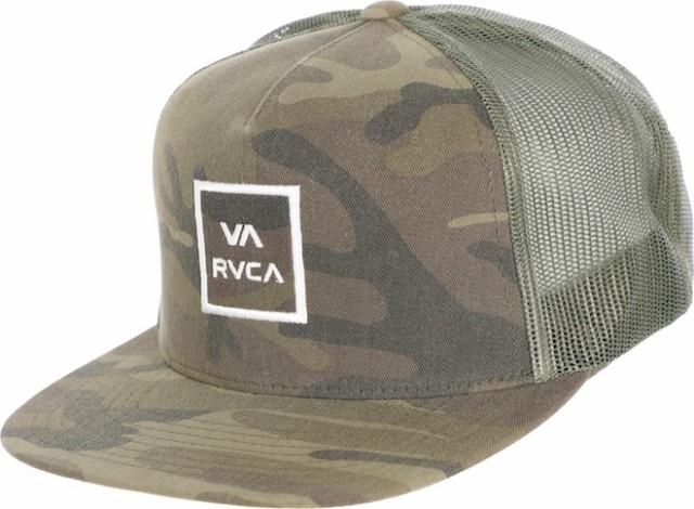 RVCA VA All The Way III Trucker Hat Cap Olive ...