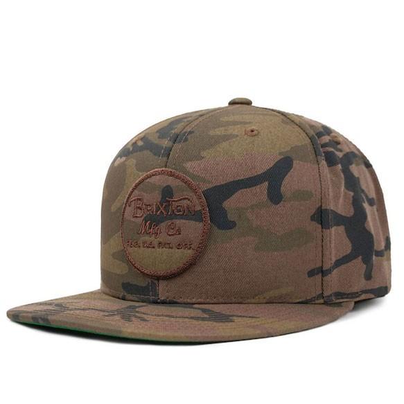 Brixton Wheeler Snapback Hat Cap Multi Camo キ...