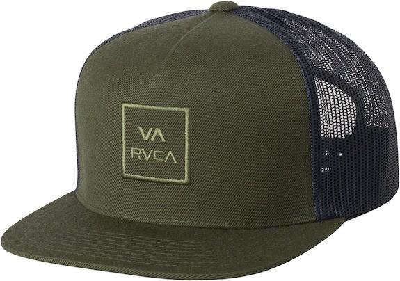 RVCA VA All The Way Trucker Hat Cap Dark Olive...