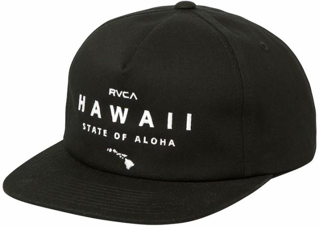 RVCA State Of Aloha Snapback Hat Cap Black キ...