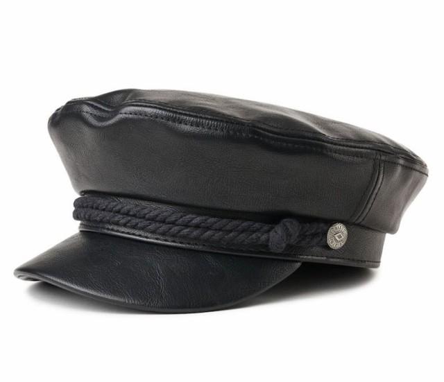 Brixton Fiddler Hat Black Vegan Leather S 送料...