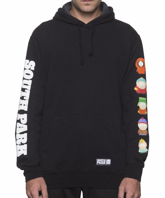 HUF X South Park SP Kids Pullover Hoodie Black...