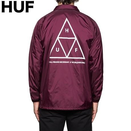 HUF Triple Triangle Coaches Jacket Maroon L コ...