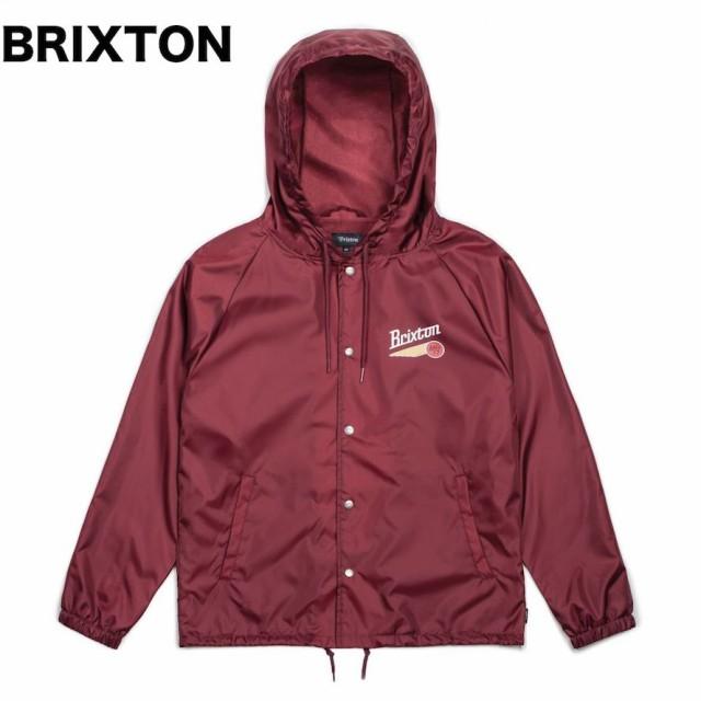 Brixton Maverick Windbreaker Jacket Burgundy S...