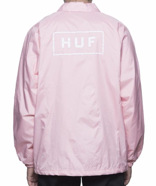HUF Bar Logo Coaches Jacket Pink XL コーチジャ...