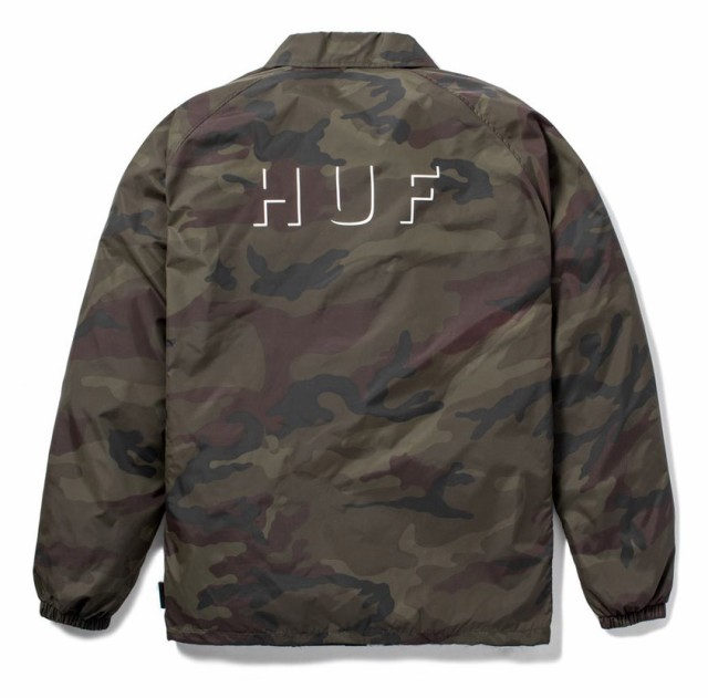 HUF Shadow Coaches Jacket Camo XL コーチジャケ...