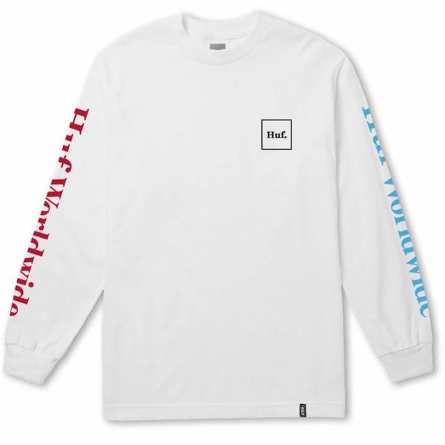 HUF Domestic L/S T-Shirt White M Tシャツ 送料...