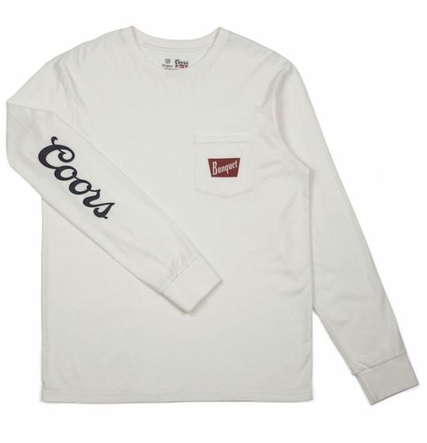 Brixton X Coors Banquet L/S T-Shirt Off White ...