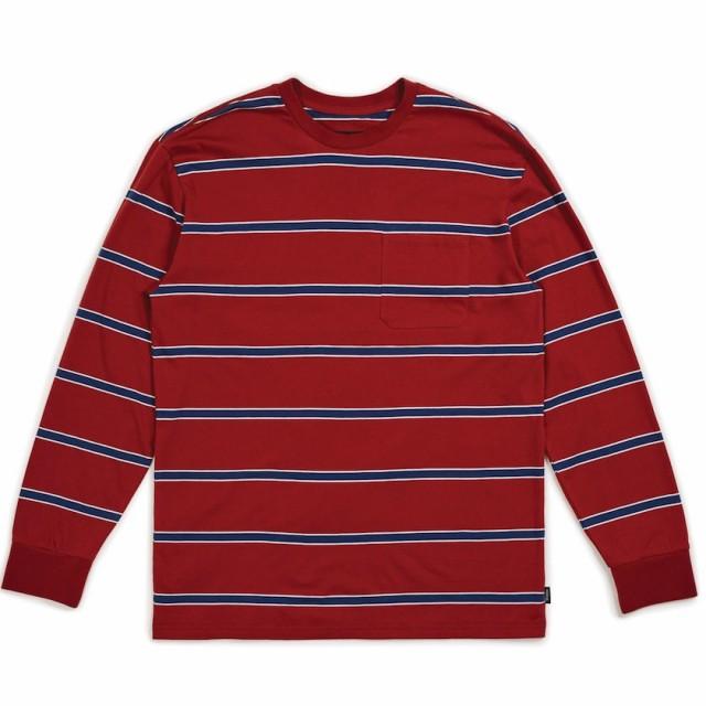 Brixton Hilt Washed Pocket L/S T-Shirt Burgund...