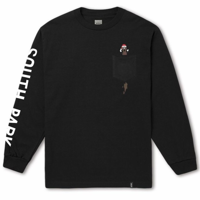 HUF X South Park Hankey L/S T-Shirt Black L T...
