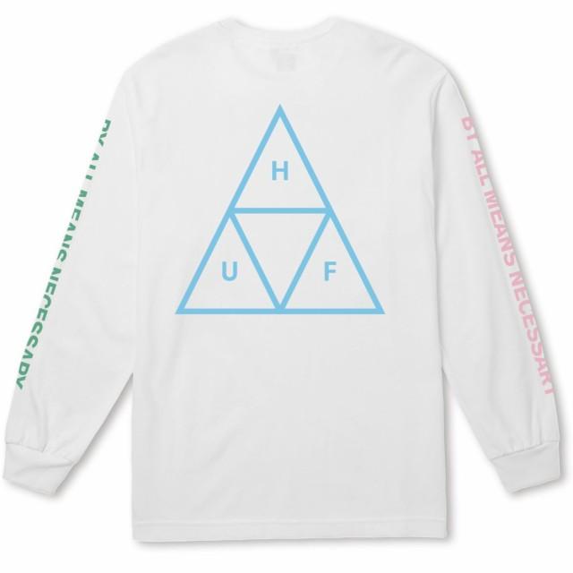 HUF Multi Triple Triangle L/S Shirt White XXL ...