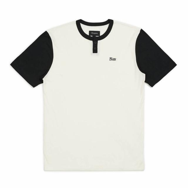 Brixton Potrero Knit T-Shirt Off White/Black S...
