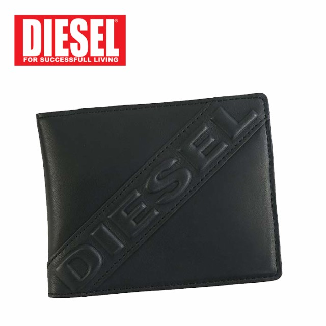 DIESEL/ディーゼル 二つ折りレザー財布/ショート...