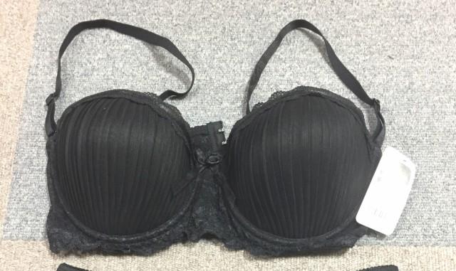 韓国製ブラジャー/ブラック|3550 2点セット