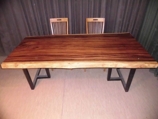 Q-004■ モンキーポッド テーブル 一枚板 無垢材 ...