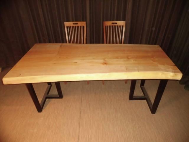 Q-008■ 銀杏 イチョウ テーブル 一枚板 無垢材 ...